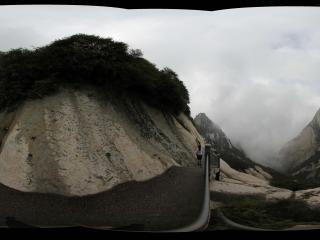 华山北峰附近的悬崖