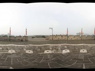西安鼓楼城墙西南角
