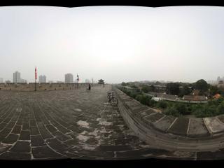 西安鼓楼城墙东南角