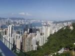 香港岛太平山上的美景全景