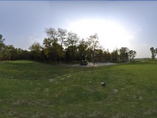 翡翠湖高尔夫球场第十洞发球台全景