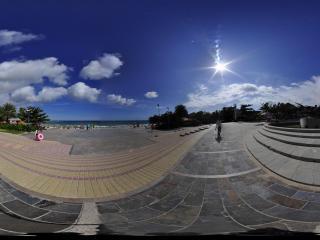 三亚大东海广场全景