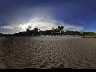 三亚小东海沙滩全景