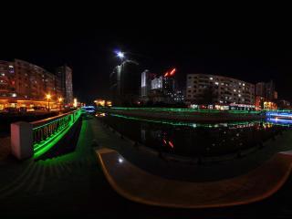 哈尔滨果戈里大街夜景