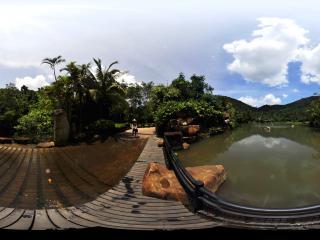 三亚呀诺达热带雨林临湖路