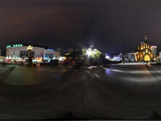 哈尔滨索菲亚广场夜景