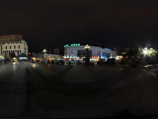 哈尔滨索菲亚广场周边夜景