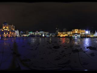 哈尔滨索菲亚喷泉夜景
