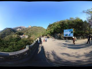 过了泰山中天门了全景