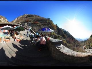 漫长的泰山路全景
