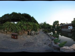 趵突泉公园园景全景