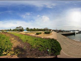 栈桥海上旅游码头全景