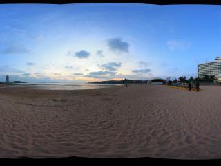 汇泉湾海滩傍晚