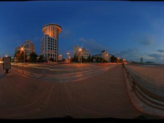 汇泉湾沙滩夜景