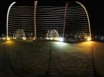 九寨县新县城老县城之间的城市景观夜景全景
