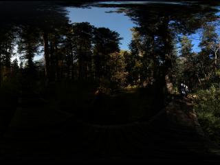 九寨沟草海上的日出