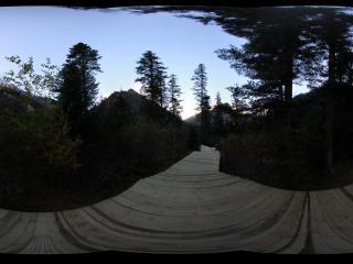 九寨沟原始森林已铺设好的小路