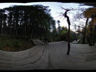 九寨沟原始森林三岔路平台
