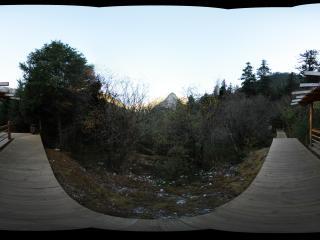 九寨沟原始森林观景平台