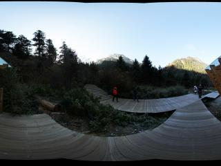 九寨沟原始森林公园木屋