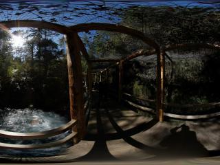 九寨沟珍珠滩木廊