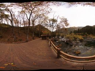 九寨沟火花海的秋天全景