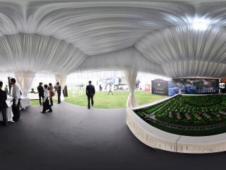 2011唐人马球公开赛上的 楼盘展示商全景