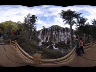 九寨沟诺日朗瀑布观景平台