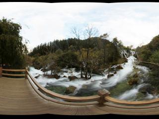 九寨沟树正瀑布观景平台