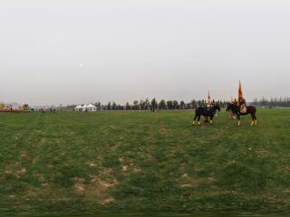 2011唐人马球公开赛上的士兵全景