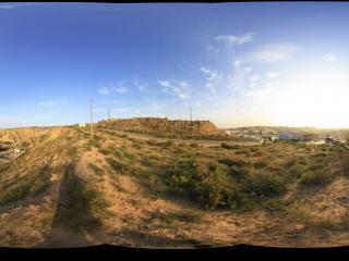 内蒙古响沙湾景区外俯瞰骆驼营