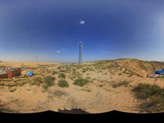 景区外俯瞰响沙湾