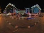 包头市百货大楼商业街夜景全景