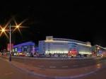 包头市百货大楼商业街夜景1全景