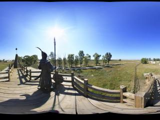 蒙古风情园蒙古部落全景