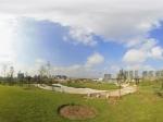 朝阳区来广营路口即将完善的绿化公园全景