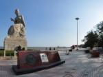 葫芦岛菊花女雕像全景