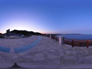 葫芦岛龙回头的晚霞