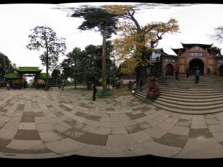 青城山上清宫前的广场