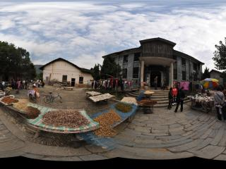 张谷英 古老村落中的集市全景