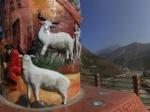 汶川城全景—广州与汶川的团结柱全景