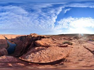 风景独好 美国 科罗拉多大峡谷的马蹄湾