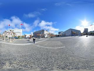 美国 洛杉矶 市政厅 广场全景