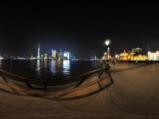 上海外滩夜景1全景