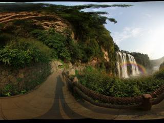 贵州黄果树瀑布彩虹