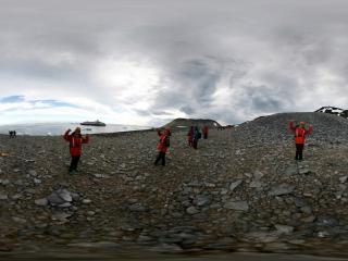 南极 美女大摆pose
