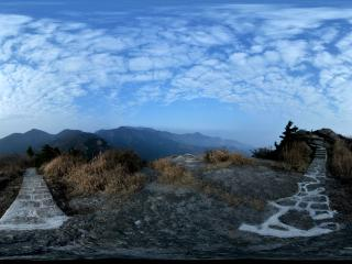 湖南衡阳衡山天柱峰全景