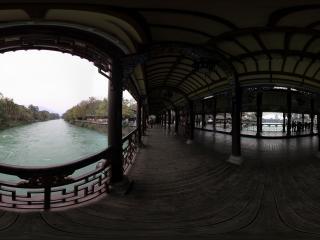 都江堰景区 广场与南桥