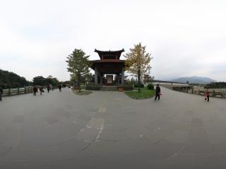 都江堰景区 从内江看宝瓶口