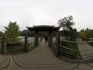 都江堰景区 绳索廊桥